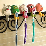 PVC Cartoon Suction Toothbrush Holder(Random Color)