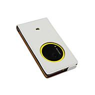 Voor Nokia hoesje Flip hoesje Volledige behuizing hoesje Effen kleur Hard PU-leer Nokia Nokia Lumia 1020