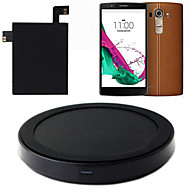 Type C-qi trådløs laderens ladematte pad + mottaker klistremerke med NFC for lg g4