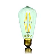 1 Stück NO Dimmbar / Dekorativ LED Kugelbirnen ST64 B22 / E26 / E26/E27 6W 400-500 lm 2200K-2700K K 8 COB Warmes WeißAC 220-240 / AC