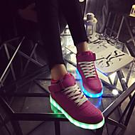 נעלי נשים-סניקרס אופנתיים-דמוי עור-מעוגל-כחול / אדום-שטח / קז'ואל / ספורט-עקב שטוח