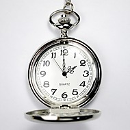 Men's Women's Unisex Pocket Watch Quartz Alloy Band Silver