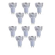 10pcs 4w gu10 / gu5.3 / e27 / e14 lumière 450lm led spot (90-260V)