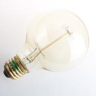 1 stk. Zweihnder E26/E27 40W 1 COB 550 lm Varm hvid G80 edison Vintage LED-glødetrådspærer AC 220-240 V