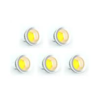 5W GU10 Lâmpadas de Foco de LED MR16 COB 350-400 lm Branco Quente / Branco Frio Regulável AC 220-240 / AC 110-130 V 5 pçs