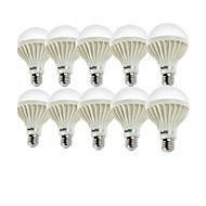 Youoklight® 10pcs e27 7w 550-600lm 12 * smd5630 550lm 6000k witte licht geleide gloeilampen (ac220v)