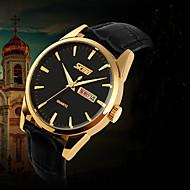 SKMEI men watches 2016 Gold Watch Dual Calendar waterproof Imported Quartz Wristwatch montre homme Gift idea Wrist Watch Cool Watch Unique Watch
