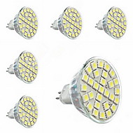 6 pcs  GU5.3(MR16) 5W 29 SMD 5050 440lm LM Warm White MR16 Spot Lights AC 220-240 V