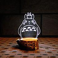 visivi servitori 3D LED decorazione USB lampada da tavolo luce colorata regalo notte (colori assortiti)