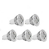 5W GU10 LED-spotlights MR16 1 350-400 lm Varmvit Dimbar AC 220-240 V 5 st