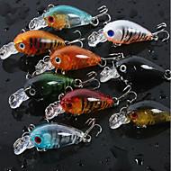 "8 pcs Cebos Manivela Colores Aleatorios g/Onza,45 mm/1-3/4"" pulgada Pesca de baitcasting Pesca de agua dulce Pesca de Cebo"