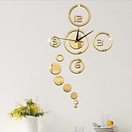 Sort / Guld / Sølv-Plastik-Vægklistermærke