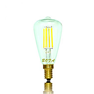 Ampoules Globe LED Gradable / Décorative Blanc Chaud NO 1 pièce Tube E14 / E12 3W 4 COB 200-300 lm AC 100-240 / AC 110-130 V