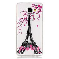 For Samsung Galaxy etui Transparent Mønster Etui Bagcover Etui Eiffeltårnet TPU for Samsung A5(2016) A3(2016)