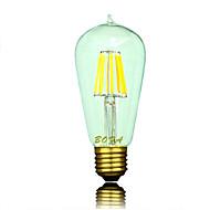 Ampoules Globe LED Gradable / Décorative Blanc Chaud NO 1 pièce ST64 E26 / E26/E27 5W 6 COB 300-600 lm AC 100-240 / AC 110-130 V