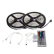 ZDM™ 10M 150X5050  SMD RGB LED Strip Light and 44Key Remote Controller and1BIN2 Connecting line(DC12V)