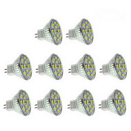 6W GU4(MR11) LED Spotlight 12 SMD 5730 570 lm Warm White / Natural White DC 12 V 10 pcs