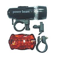 Luces para bicicleta / Luz Frontal para Bicicleta / Luz Trasera para Bicicleta LED - Ciclismo Fácil de Transportar AAA 100 Lumens Batería