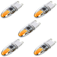 YWXLight® 5 pcs G9 6W 2 COB 600 lm Warm White / Cool White T Dimmable / Decorative LED Bi-pin Lights AC 220-240 V