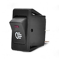 Jtron Car Switch / Fog Green/Red Light Switch - Black (30A / 12V)