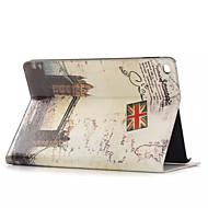 τόποι ιστορικού δερμάτινη θήκη ενδιαφέροντος με τους κατόχους καρτών για τον αέρα μήλο ipad, Smart Cover δερμάτινη θήκη