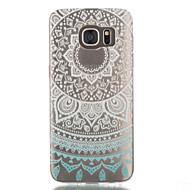 Mert Samsung Galaxy S7 Edge Átlátszó / Minta Case Hátlap Case Mandala TPU Samsung S7 edge / S7 / S6 edge / S6 / S5