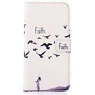 Для Кейс для  Samsung Galaxy Бумажник для карт / Кошелек / со стендом / Флип / Рельефный Кейс для Чехол Кейс для Животный принт