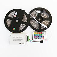 ZDM ™ 2x5m vanntett 144w 5050 smd RGB LED lampe stripe 1bin2 signallinjen ir24 jern kontrolleren (DC12V 12a)