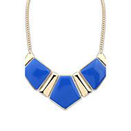 Dame Halskædevedhæng Ædelsten Harpiks Legering Mode luksus smykker Europæisk Mørkeblå Grøn Blå Lys pink Regnbue Smykker ForFest Daglig