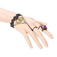 Brățări Ring Bracelets Dantelă Incrucisarea / La modă / Bohemia Stil Petrecere / Zilnic / Casual Bijuterii Cadou Negru,1 buc