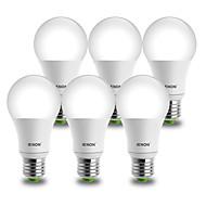 9W E26/E27 LED-globepærer A60(A19) 1 COB 850-900 lm Kold hvid Dekorativ AC 100-240 V 6 stk.