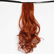 물 파도 붉은 금발 합성 붕대 형 머리 가발 포니 테일 (119 컬러)