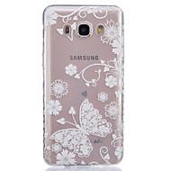 Mert Samsung Galaxy tok Átlátszó Case Hátlap Case Pillangó Puha TPUJ7 / J5 (2016) / J5 / J3 / J2 / J1 (2016) / J1 Ace / J1 / Grand Prime