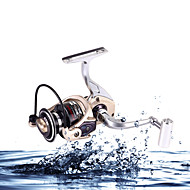 Spinne-hjul Karper Fiskehjul 5.2:1 12 Kuglelejer ombytteligHavfiskeri Madding Kastning Isfikeri Spinning Vippefiskeri Ferskvandsfiskere