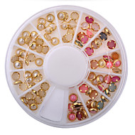 New Arrive Fashion Colorized Rhinestones For Nails Gold Alloy Nail Art Glitter Studs Stickers Decoration