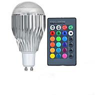 10W GU10 LED-pallolamput A50 1 Teho-LED 600-800 lm RGB Kauko-ohjattava AC 85-265 V 1 kpl