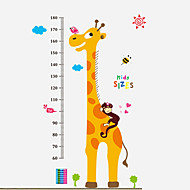 60-180Cm Cartoon Giraffe Animals Wall Stickers Environmental Kindergarten Kids Bedroom Wall Decals