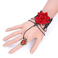 Brățări Ring Bracelets Dantelă La modă / Ajustabile Petrecere / Zilnic / Casual Bijuterii Cadou Negru,1 buc