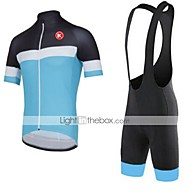 KEIYUEM® Cycling Jersey with Tights Unisex Short SleeveBreathable / Quick Dry / Dust Proof / Wearable / Sweat-wicking / Compression /