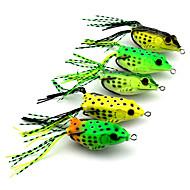 """5 pcs Señuelos blandos / Vinilos Multicolor 18.9 g/5/8 Onza,60 mm/2-3/8"""" pulgada,Plástico blandoPesca de baitcasting Pesca de Cebo Pesca"""