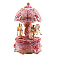Pottery Pink Creative Romantic Music Box for Gift