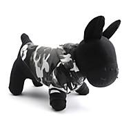 猫用品 / 犬用品 Tシャツ / パーカー グレー 犬用ウェア 春/秋 カモフラージュ ファッション