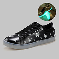 hommes conduit chaussures usb charge baskets mode synthétique extérieur / sport / casual noir / argent / or