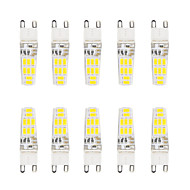 5W G9 2-pins LED-lampen T 16 SMD 5730 300 lm Warm wit / Koel wit Waterbestendig AC 220-240 V 10 stuks