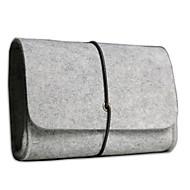 bolsa de almacenamiento digital para el ordenador portátil pequeño de fieltro accesseries / ratón / auricular / cable de color gris claro
