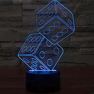 Anteresting 3D Illusion Three-Dimensional Sieve Night Light LED Table Lamp