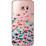 For Samsung Galaxy S7 Edge Transparent Mønster Etui Bagcover Etui Hjerte Blødt TPU for Samsung S7 edge S7 S6 edge plus S6 edge S6