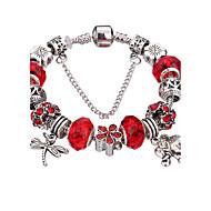 Γυναικεία Κοριτσίστικα Βραχιόλια με Φυλαχτά Βραχιόλια Βραχιόλια Strand Silver Bracelets Ανθεκτικό Μοντέρνα Λατρευτός Χάντρες κοστούμι