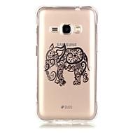 Varten Samsung Galaxy kotelo Läpinäkyvä Etui Takakuori Etui Elefantti Pehmeä TPU Samsung J3 / J1 (2016) / Grand Prime
