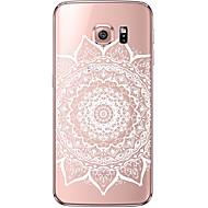 Mert Samsung Galaxy S7 Edge Átlátszó / Minta Case Hátlap Case Mandala Puha TPU Samsung S7 edge / S7 / S6 edge plus / S6 edge / S6